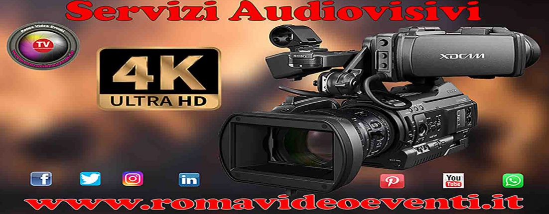 Servizi audiovisivi per eventi pubblici e privati